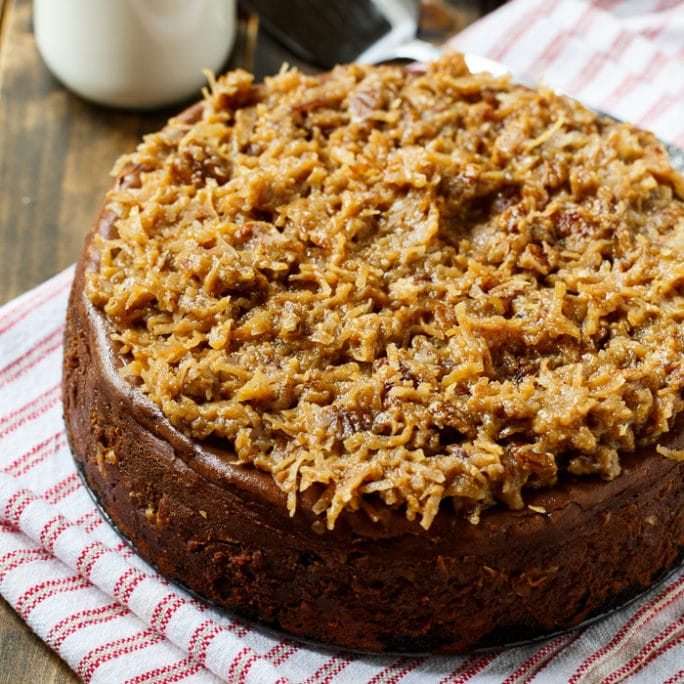 German Chocolate Cheesecake - Spicy Southern Kitchen