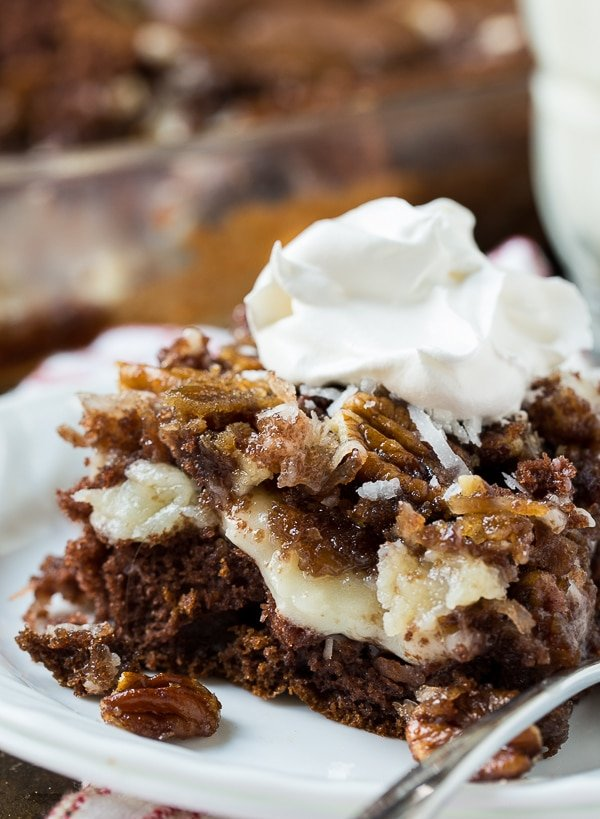 German Chocolate Upside Down Cake Spicy Southern Kitchen