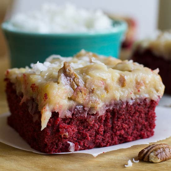German-Chocolate-Red Velvet Cake
