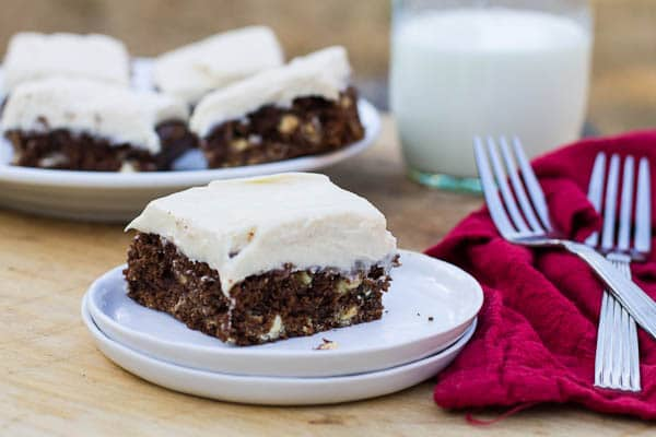 Cream Cheese Frosted Brownies a Cream Cheese Frosting