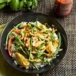 Basil, Chicken, and Green Beans in Coconut Curry Sauce