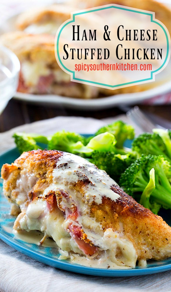 Ham and Cheese Stuffed Chicken