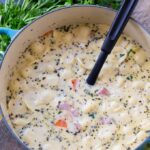 Creamy Ham and Tortellini Soup with White Beans
