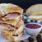 Ham Panini with Blackberry Mustard