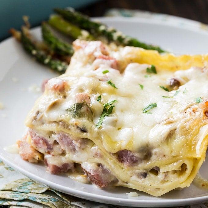 ham lasagna spicy southern kitchen