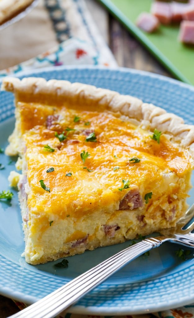 Easy Ham And Cheese Quiche Spicy Southern Kitchen