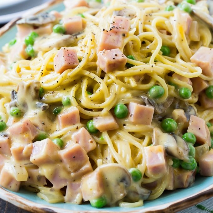 Ham Fettuccine Bake Recipe: Spicy Southern Kitchen
