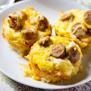 Sausage, Egg, and Cheese Hashbrown Muffins