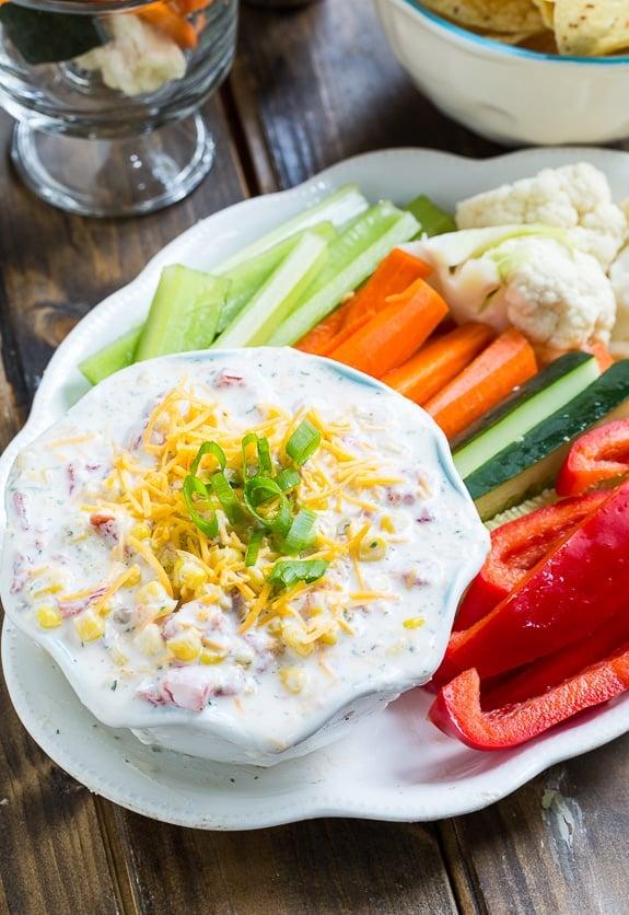Skinny Fiesta Ranch Dip. Greek yogurt makes this creamy dip high ...
