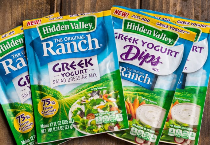 hidden valley ranch greek yogurt products