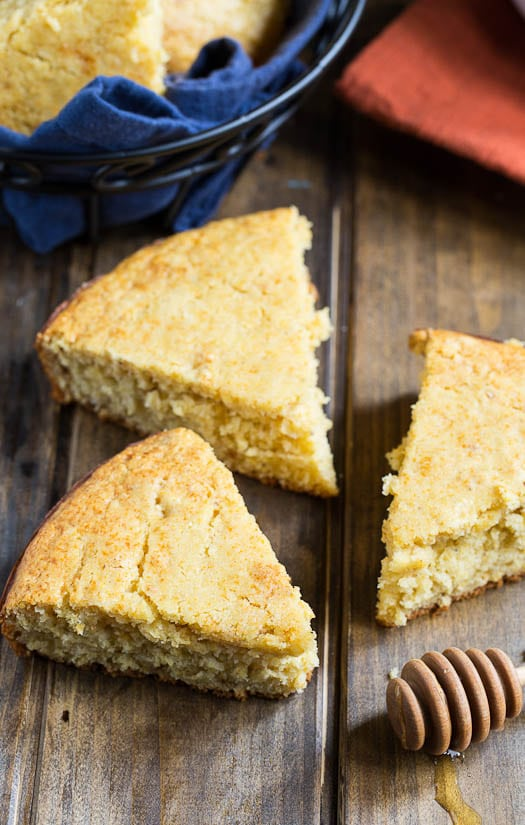 Honey Cornbread - moist and tender and sweetened nicely with honey.