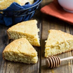 Honey Cornbread - moist and tender and nicely sweetened with honey.