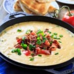 Hot Brown Fondue makes a great Kentucky Derby Part appetizer!