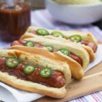 Hot Dogs with Dr Pepper Barbecue Sauce