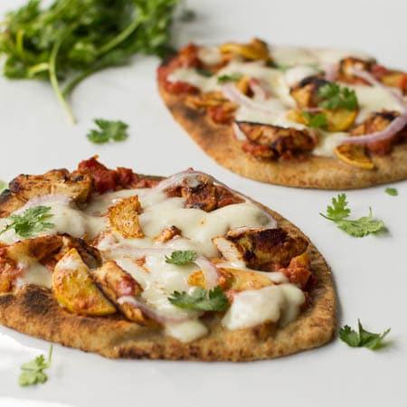 Chicken Tikka Pizzas