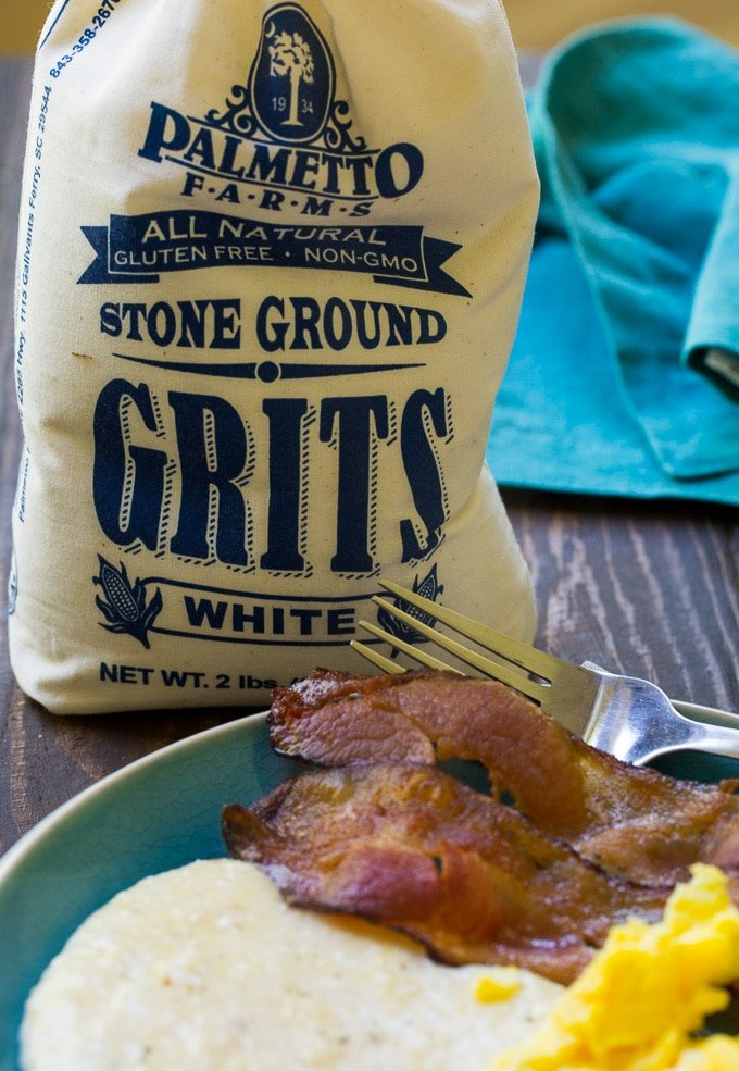Instant Pot Grits made with stone ground grits