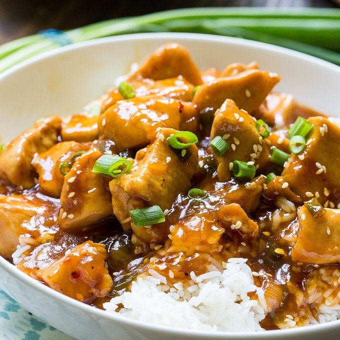 Instant Pot Honey Sesame Chicken Spicy Southern Kitchen