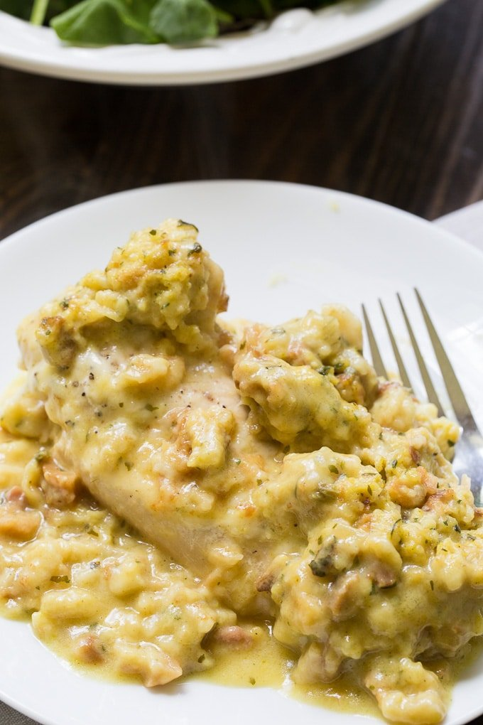 Instant Pot Swiss Chicken (chicken and stuffing casserole)