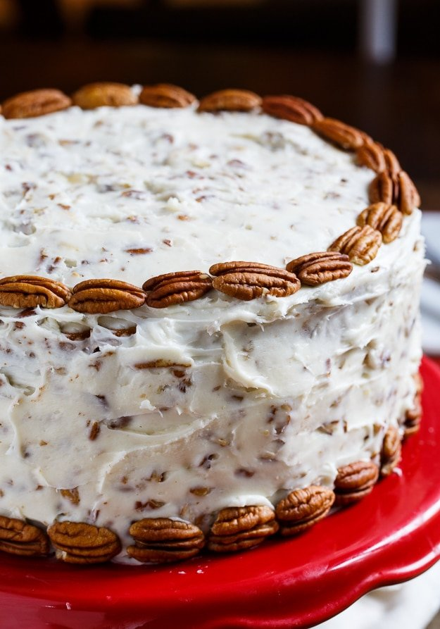 Italian Cream Cake with lots of coconut and pecans.