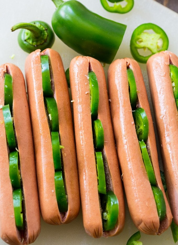 Jalapeno Stuffed Hot Dogs