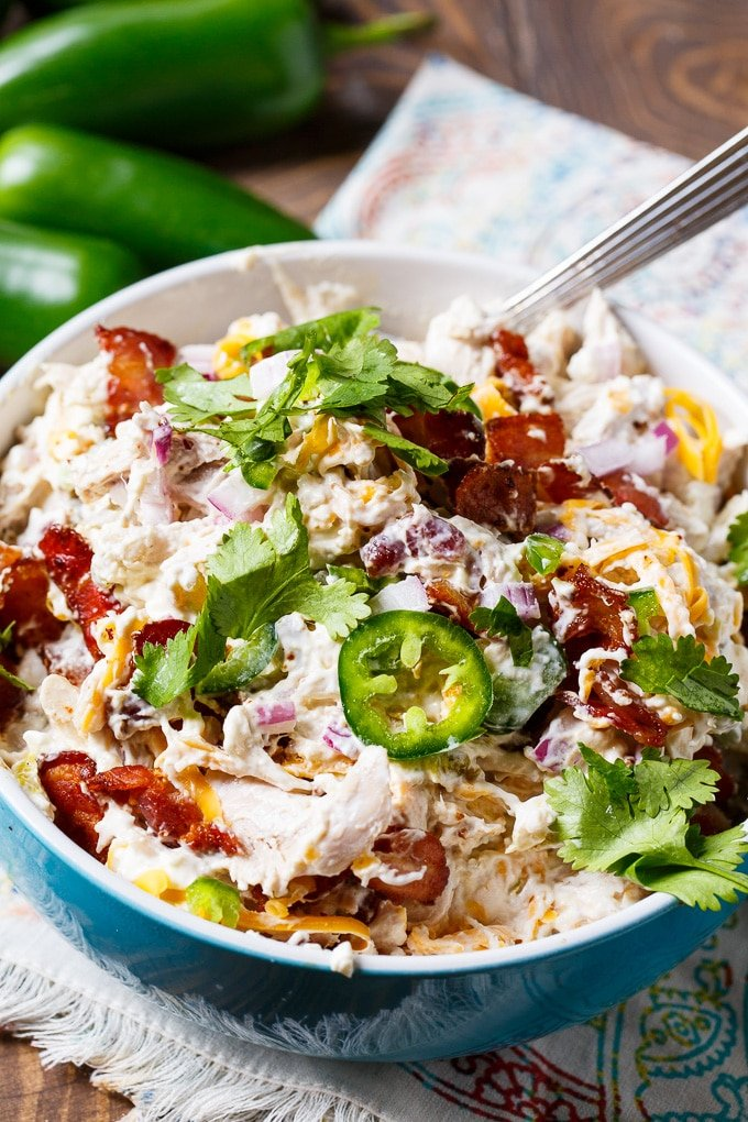 Jalapeno Popper Chicken Salad