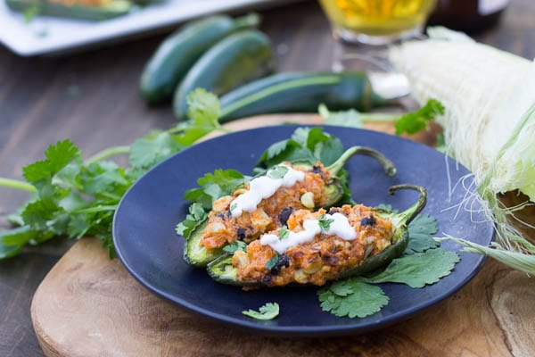 Black Bean and Corn Stuffed Jalapenos - Spicy Southern Kitchen