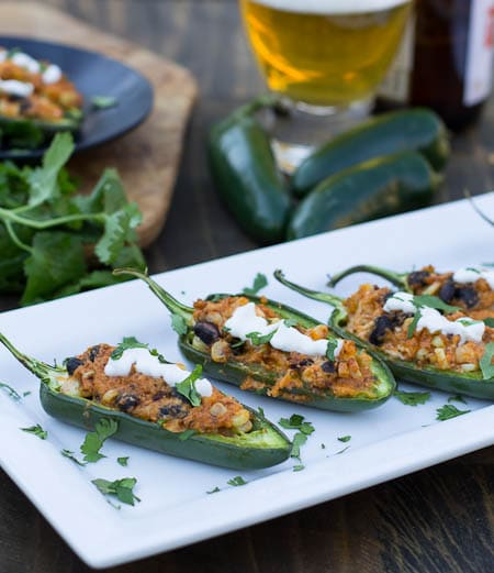 Black Bean and Corn Stuffed Jalapenos