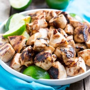 Key West Chicken Bites marinated in honey, soy sauce, and lime and grill up fast and flavorful.