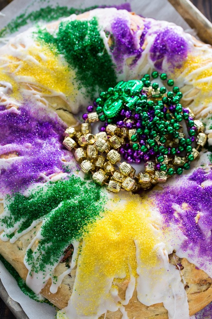 Cinnamon-Pecan King Cake