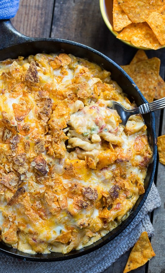 King Ranch Casserole In Mac And Cheese Form Creamy And Spicy With Diced Chicken And