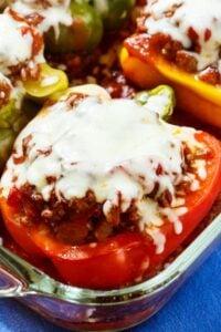 Lasagna Stuffed Peppers
