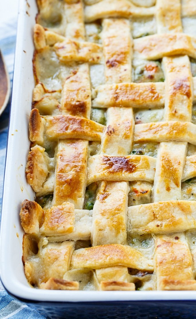 Chicken Pot Pie with Lattice Top