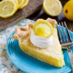 Lemon Chess Pie- an old-fashioned dessert that's super easy to make from basic ingredients.