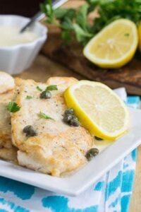 Chicken with Lemon Butter Sauce