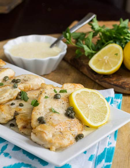 Chicken with Lemon Butter Sauce