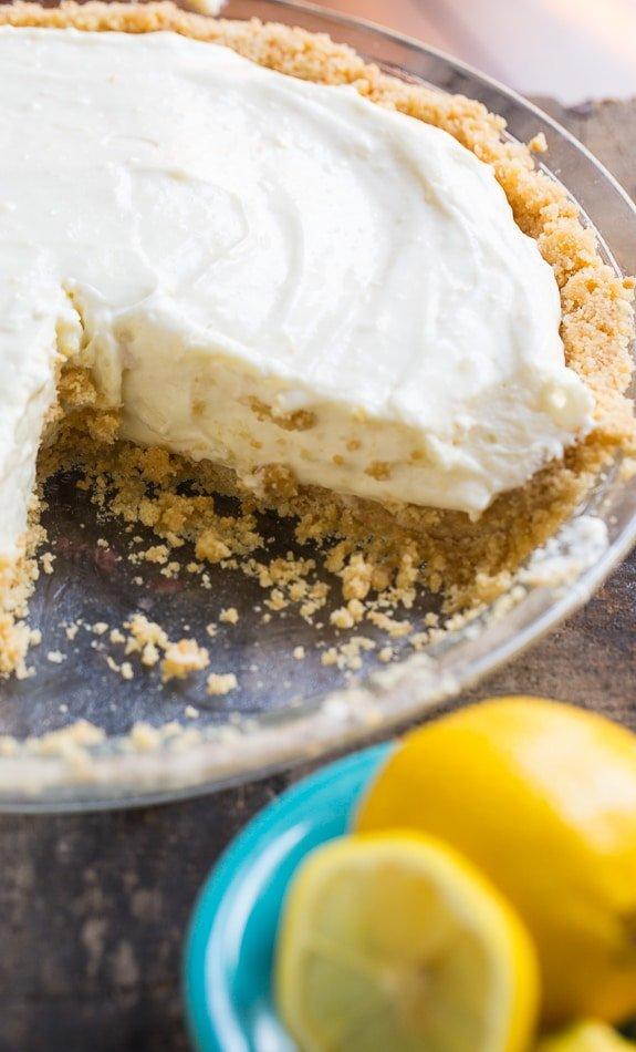 No-Bake Lemon Icebox Pie only takes minutes of prep time. A cool and creamy dessert perfect for summer time!
