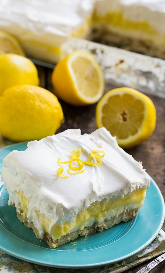 Lemon Lush - 4 delicious layers. This cool and cramy dessert is perfect for summer entertaining.