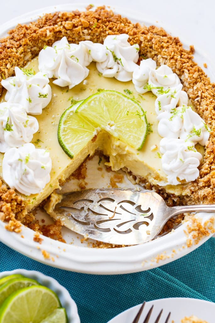 Creamy Lime Pie in a Coconut Macadamia Crust