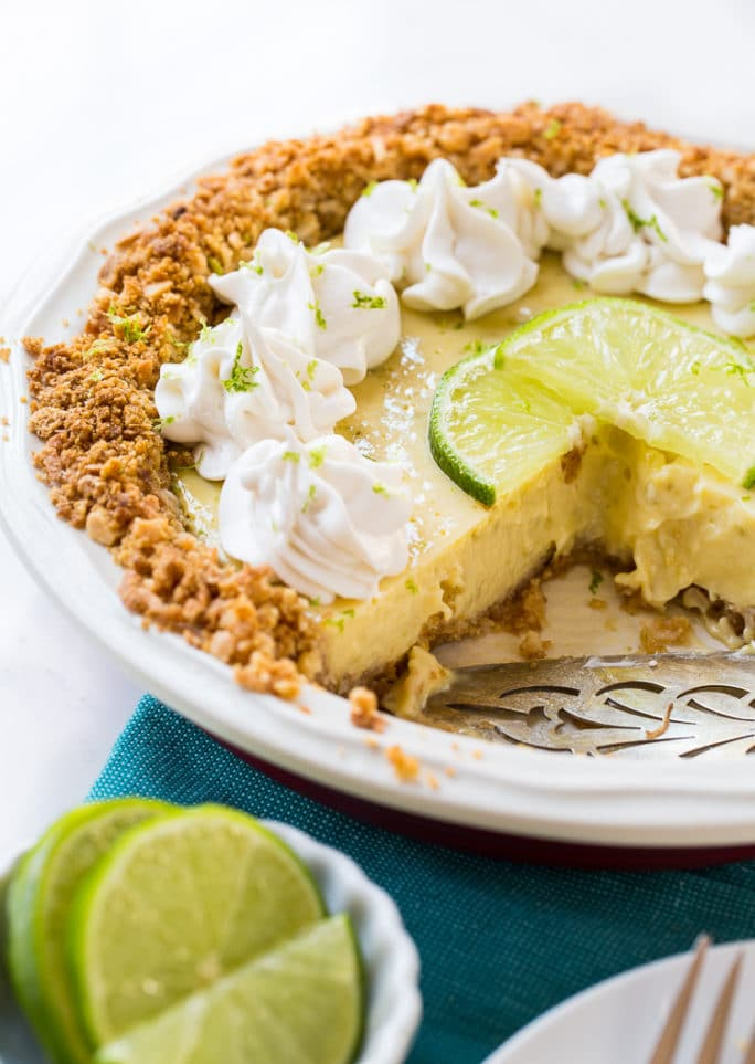 Lime Pie with Coconut Macadamia Crust