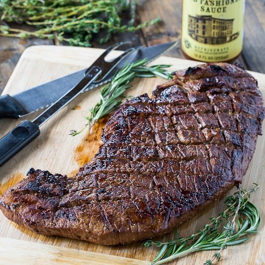 Super flavorful and moist Grilled Marinated London Broil