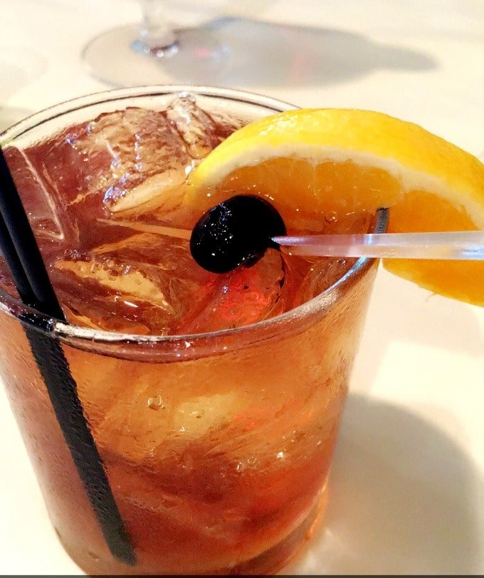 Peach Old-Fashioned at Lilly's Bistro