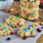 M&M, Coconut, and Macadamia Cookies