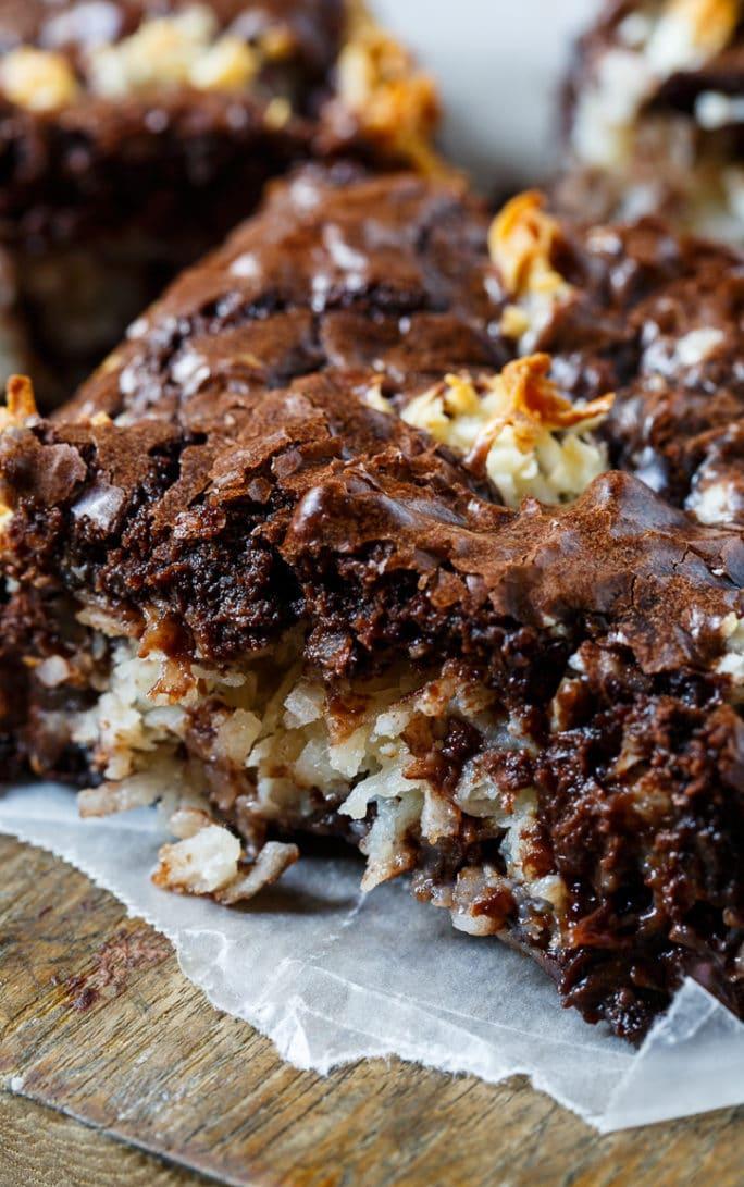 Easy Macaroon Brownies