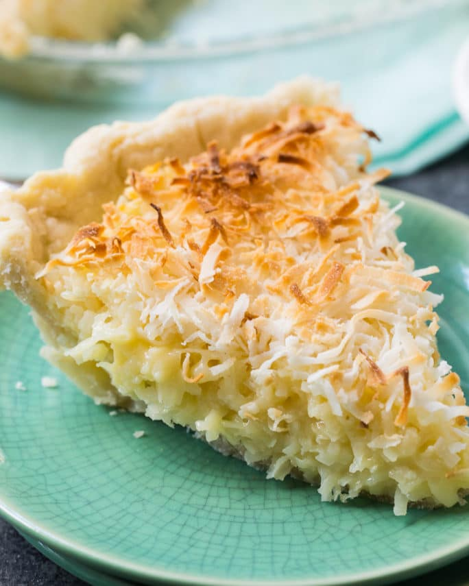 Coconut Macaroon Pie- super easy to make with tons of coconut flavor.