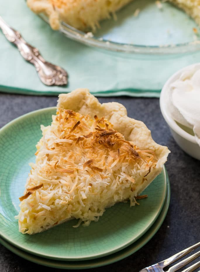 Coconut Macaroon Pie is super sweet with tons of coconut.