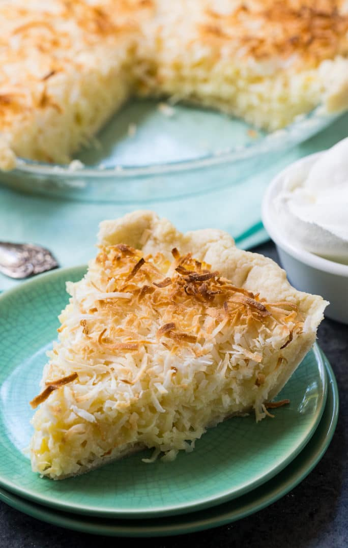 Coconut Macaroon Pie- super easy to make with lots of coconut flavor.
