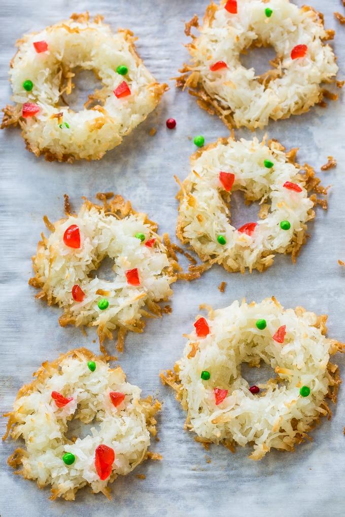 Macaroon Wreaths- gluten-free!