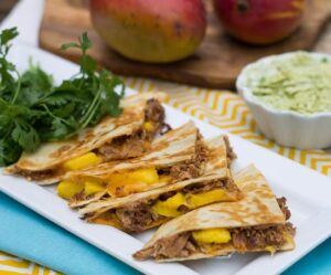 BBQ Pork and Mango Quesadilla