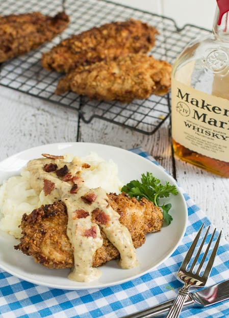 Pecan Chicken in Bourbon Maple Cream Sauce