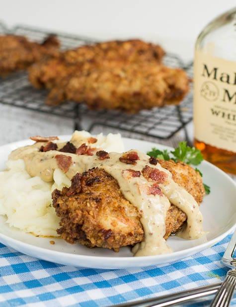 Pecan Chicken in Bourbon Maple Cream Sauce